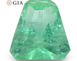 3.06ct Shield Emerald GIA Certified Ethiopian F1/Minor