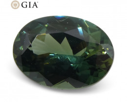 1.30ct Oval Teal Blue Sapphire GIA Certified Australian