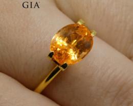 3.00ct  Vivid Fanta Orange Spessartine/Spessartite Garnet Oval, GIA Certifi
