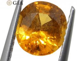 2.11ct Vivid Fanta Orange Spessartine/Spessartite Garnet Oval, GIA Certifie