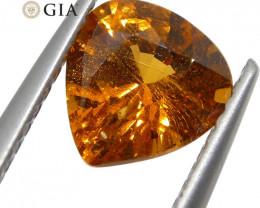 1.67ct Vivid Fanta Orange Spessartine/Spessartite Garnet Pear, GIA Certifie