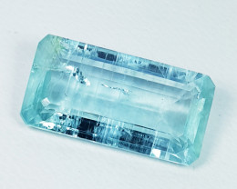 8.89 ct Excellent Gem Beautiful Emerald Cut Natural Aquamarine