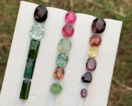 21.80 mixwd colour Tourmaline Gemstones parcel