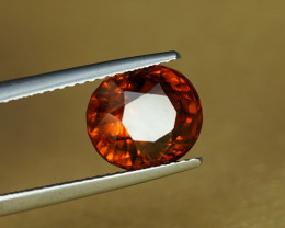 4.12CT BRIGHT CINNAMON ORANGE NATURAL HESSONITE GARNET $1NR!