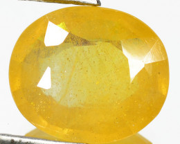 4.05 Cts Rare Fancy Yellow Sapphire Natural Gemstone