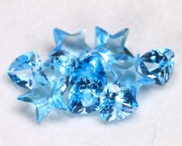 Swiss Blue Topaz 3.01Ct 10Pcs Fancy Cut Natural Swiss Blue Topaz C2903