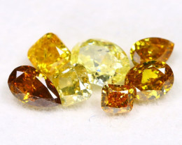 Fancy Diamond 1.06Ct 7Pcs Natural Untreated Fancy Color Diamond B2912