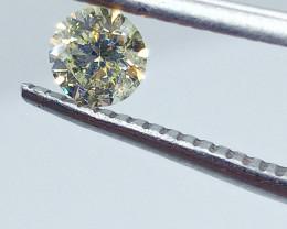 0.385ct  Fancy Light Yellow Green Diamond , 100% Natural Untreated