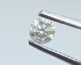 0.395ct  Faint Yellow Diamond , 100% Natural Untreated
