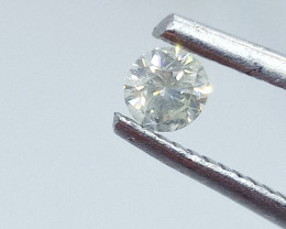 0.19ct  Faint Green  Diamond , 100% Natural Untreated