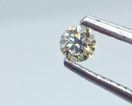 0.19ct  Fancy Light greenish Yellow Diamond , 100% Natural Untreated
