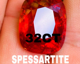 32 CT-SPESSARTITE GARNET - Big and beautiful!!