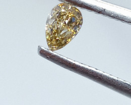 0.27ct  Light Brown Diamond , 100% Natural Untreated