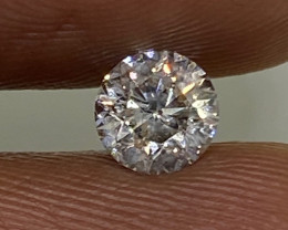 (3) Certified $1013 Beautiful 0.50cts SI1 Nat White Round Loose Diamond
