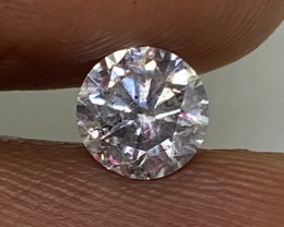 (6) Certified $1070 Brilliant  0.64cts SI2 Nat Round White Loose Diamond