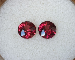 2,94ct pinkish purple Rhodolite garnet pair - Master cut