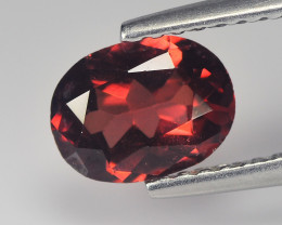 Smashing 0.95 Cts  Rhodolite Garnet Red Oval Step cut BGC735
