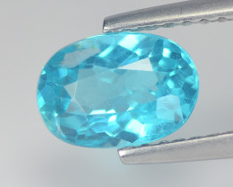 Adorable Blue  Apatite 1.27 Cts Step cut Oval BGC737