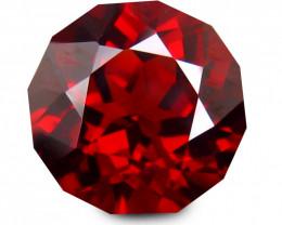 Splendid 2.331 Cts SPESSTITE GARNET RED Round Signature Geo Cut BGC492