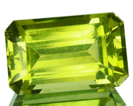 ~STUNNING~ 5.56 Cts Natural Green Apatite Octagon Emerald Cut Brazil