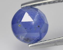 No Heat Blue Cylon Sapphire 1.59 Cts Rose Cut Round BGC602