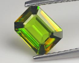 Ravishing pakistan Sphene 0.75 Cts Chrome Green step cut BGC622