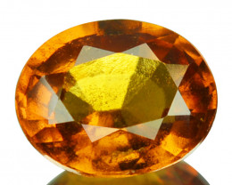 2.08 Cts Natural Cinnamon Orange Hessonite Garnet Oval Sri Lanka