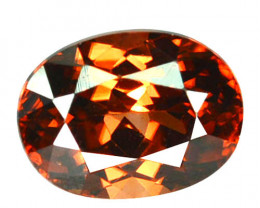 ~BRILLIANT~ 2.37 Cts Natural Imperial Orange Zircon Oval Cut Tanzania