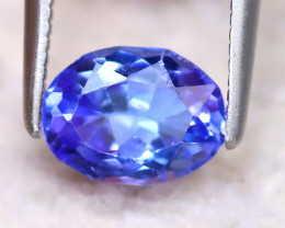 Tanzanite 0.91Ct Natural VVS Purplish Blue Tanzanite DF0330/D3