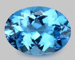 10.86 Cts Amazing Rare Super Swiss Blue Color Natural Topaz Gemstones