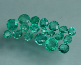 1.175 CRT 19 PCS STUNNING PARCEL COLOMBIAN EMERALD-