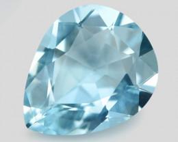 1.43 Cts Un Heated  Santa Maria Blue  Natural Aquamarine Loose Gemstone