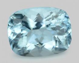 1.29 Cts Un Heated  Santa Maria Blue  Natural Aquamarine Loose Gemstone