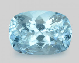 1.14 Cts Un Heated  Santa Maria Blue  Natural Aquamarine Loose Gemstone