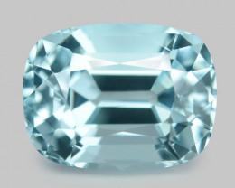 1.83 Cts Un Heated  Santa Maria Blue  Natural Aquamarine Loose Gemstone