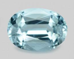0.79 Cts Un Heated  Santa Maria Blue  Natural Aquamarine Loose Gemstone
