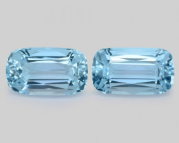 3.91 Cts 2 Pcs Un Heated  Santa Maria Blue  Natural Aquamarine Loose Gemsto