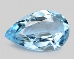 2.80 Cts Un Heated  Santa Maria Blue  Natural Aquamarine Loose Gemstone