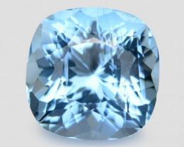 3.43 Cts Un Heated  Santa Maria Blue  Natural Aquamarine Loose Gemstone