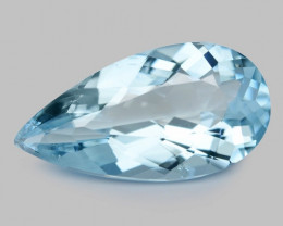5.89 Cts Un Heated  Santa Maria Blue  Natural Aquamarine Loose Gemstone