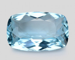 6.41 Cts Un Heated  Santa Maria Blue  Natural Aquamarine Loose Gemstone