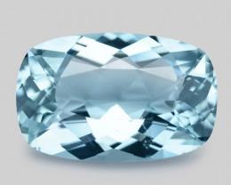 5.91 Cts Un Heated  Santa Maria Blue  Natural Aquamarine Loose Gemstone