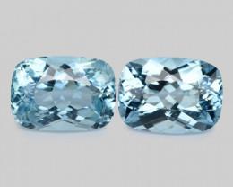 8.38 Cts 2 Pcs Un Heated  Santa Maria Blue  Natural Aquamarine Loose Gemsto