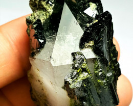 Amazing Natural color Damage free Epidote combine with Lovely Quartz 251Cts