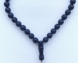 Natural Amber rosary / mala black color