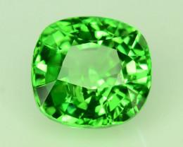 IGA Certified Top Quality 3.050 ct Green Tsavorite Garnet