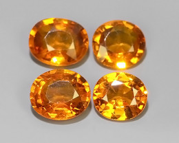 3.10 Cts~Excellent Natural Intense Beautiful Orange Yellow Sapphire Excelle