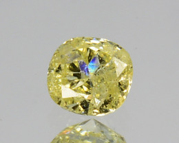 ~UNTREATED~ 0.08 Cts Natural Diamond Fancy Yellow Cushion Africa