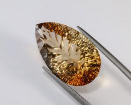 31.88ct. Natural Pear Concave Cut Topaz