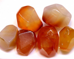 122 CTS CARNELIAN BEAD DRILLED (6PC) NP-1807